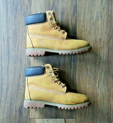 £29.99 • Buy Timberland Womens Boots Size UK 6 Seude Leather Tan Wheat Ladies Mid Boot