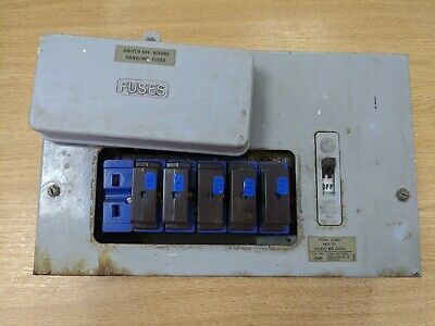 £23.99 • Buy Wylex Distribution Board Switch Consumer Unit Mains Board 5 Fuses Included...