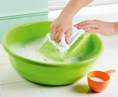 £9.99 • Buy Hand Washing Clothes Basin With Washboard Laundry Plastic Bowl 13xDia.40cm