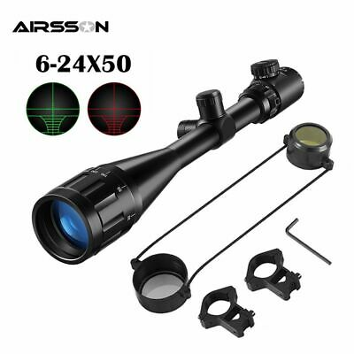 $160.83 • Buy Tactical Rifle Scope Red Green Illuminated Crosshair Military Hunting Shooting