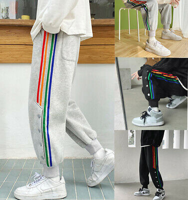 $19.99 • Buy Man Casual Joggers Cargo Pants Sweatpants Trousers Streetwear Color Embroidery