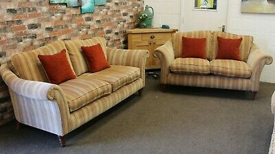 £1799 • Buy Parker Knoll Broadway Pair Of 3 & 2 Seater Sofas In Gold, Rose Chenille Fabric
