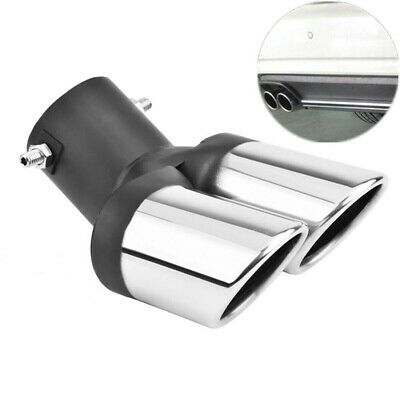 $18.99 • Buy Car Universal 63mm Stainless Steel Dual Outlet Exhaust Pipe Muffler Tail Throat