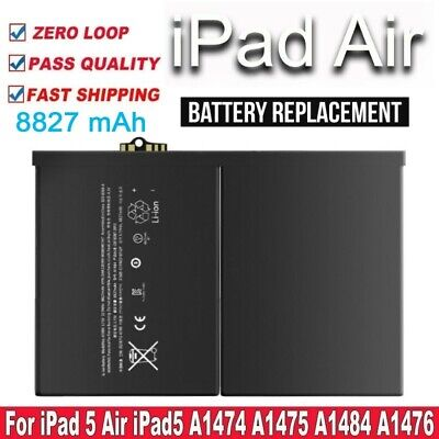 £10.95 • Buy NEW Replacement Battery OEM For IPad Air 1 IPad 5  A1484 A1474 A1475 8827mAh