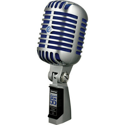 £179.36 • Buy Shure Super 55 Supercardioid Dynamic Microphone (Chrome With Blue Foam)