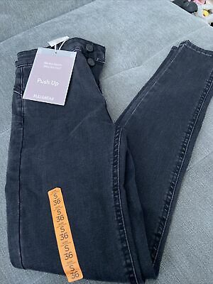 £19.99 • Buy Pull And Bear Push Up Size 8 Black Skinny Jeans