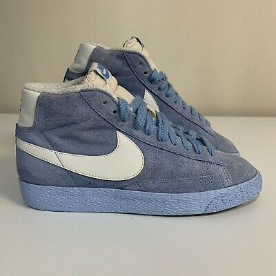 £35 • Buy Nike Vintage Retro Suede Baby Blue Mid Top Blazer Trainers Size 5.5