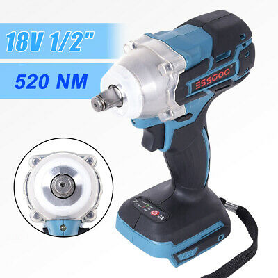 £15.99 • Buy 18V Cordless Impact Wrench 1/2'' Brushless Replacement For Makita Battery Driver
