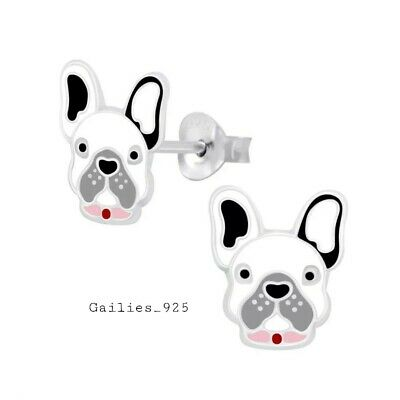 £6.20 • Buy Childrens Boys Girls 925 Sterling Silver Dog Stud Earrings - Gift Pouch