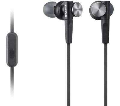 £14.99 • Buy Sony MDR-XB50AP Extra Bass In-Ear Headphones With In-Line Control, Grey.