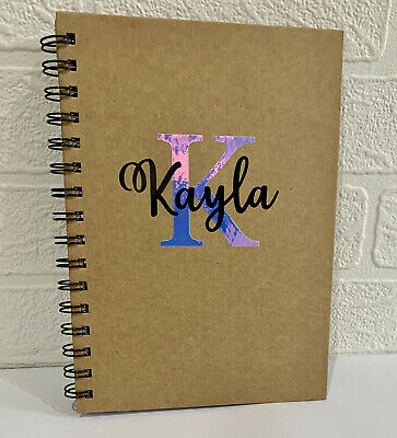 £6.89 • Buy Personalised Hardback Premium Quality A5 Lined 80 Page Note Book, Journal Gift