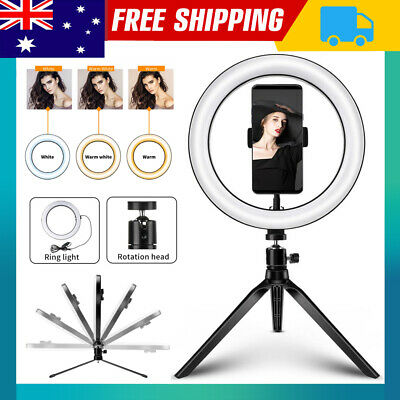 AU13.99 • Buy 10  Dimmable Diva LED Ring Light Tripod Stand Selfie Circle Lamp Make Up USB