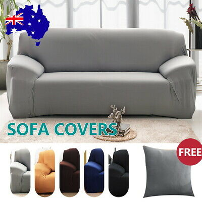 AU16.59 • Buy 1 2 3 4Seater Sofa Covers Stretch Couch Lounge Recliner ChairSlipcover Protector