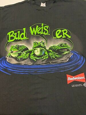 $ CDN186.69 • Buy NEW Budweiser Frogs T-shirt Vintage Single Stitch Size XL Your Pad Or Mine 1995