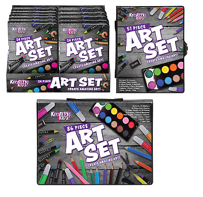 £3.29 • Buy Kids Craft Art Case Drawing Painting Crayons Pens Colouring Pencils Childrens