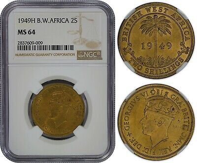 £106.19 • Buy British West Africa 2 Shillings 1949-h (ngc Ms64) *premium Quality*