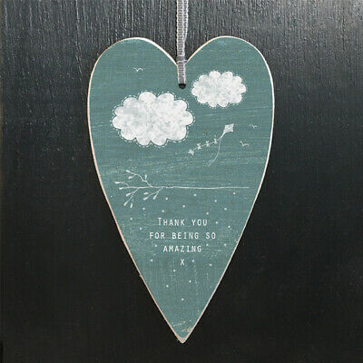 £2.95 • Buy East Of India Card Heart Gift Tag Hanging Heart Thank You For Being Amazing