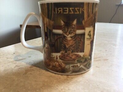 """£6.50 • Buy Past Times Mug """"Luciano"""" Cat Design China Unused Ex. Con Use/Display"""