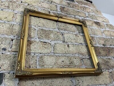 £20 • Buy Vintage Rococo Baroque Gold Gilt & Gesso Detail Picture Frame Medium - Small