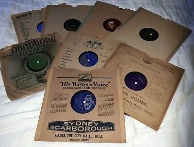 £8 • Buy VARIOUS GRAMOPHONE SHELLAC RECORDS 10inch 78 Rpm SEE LIST!
