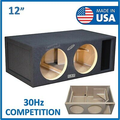 £198.24 • Buy Dual 12  Competition Ported Sub Box Subwoofer Enclosure 12  Vented Sub Box