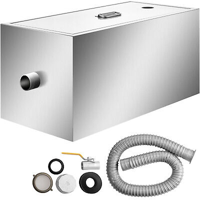 £80.73 • Buy Stainless Steel Grease Trap Interceptor For Restaurant Grease Recovery 20 LB