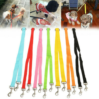 AU14.43 • Buy Polyester 2 WAY Dogs Duplex Double Walking Leash Safety Twin Lead Dog Coupler Y