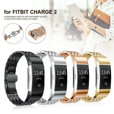 $ CDN10.32 • Buy Watch Band For Fitbit Charge 2 Replacement Strap Wristband Secure Metal Buckle