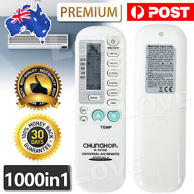 AU7.95 • Buy Universal Aircon Remote Replacement AC Air Conditioner Control 1 In 1000 Brands