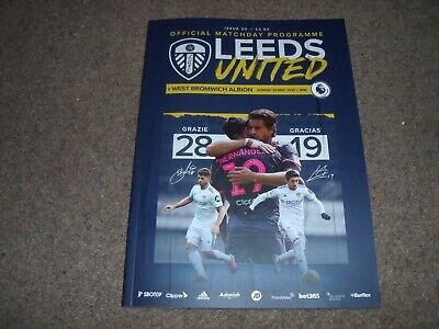 £14.99 • Buy 2020/21 Leeds United V West Brom Bromwich Albion Programme  May 2021 *sell Out*