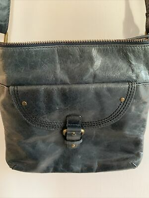 £13.99 • Buy Womens M&s Autograph Bag - Distressed Blue Leather - Shoulder /cross Body