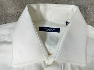 £14.15 • Buy Burberry London Men's White French Cuff Dress Shirt Size 15-34 Spread Collar