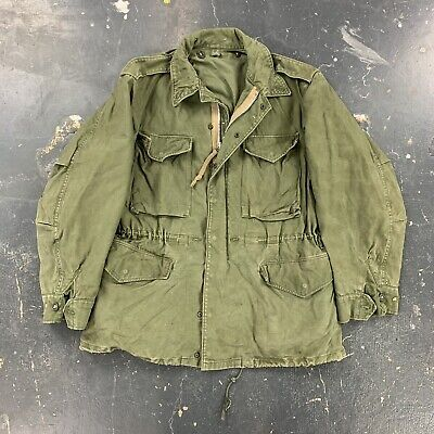 $35 • Buy US Army M-1951 M51 Field Jacket Coat OG107 Distressed Painted Named 50s 60s