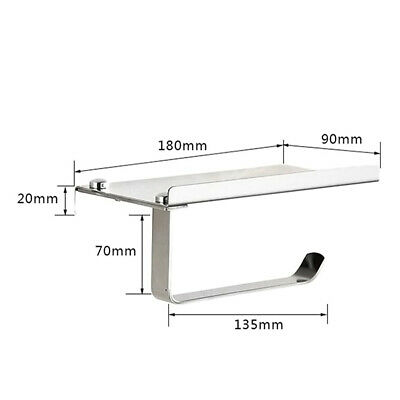 AU22.48 • Buy Wall Mounted Bathroom Toilet Paper Holder Rack Tissue Roll Stand Stainless New