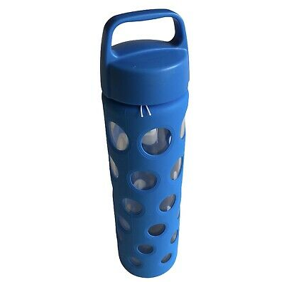 £14.99 • Buy Ello Pure BPA Free Glass Water Bottle With Lid 20oz. (591ml) Blue Travel Safe