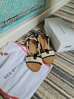£95 • Buy See By Chloe Sandals Size UK 8 Eur 41, With Box And Dust Bag