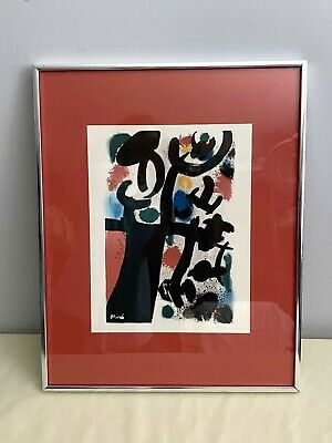 £244.34 • Buy Joan Miro Abstract Lithograph Signed, Framed