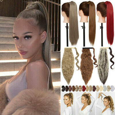£9.56 • Buy Hairpiece Ponytail Clip In Pony Tail One Piece High Pony Hair Extensions Blonde