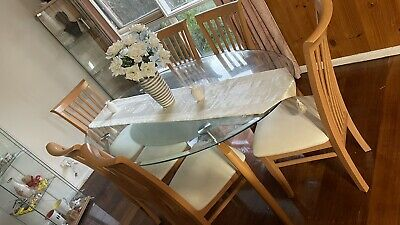 AU650 • Buy Dining Tables And Chairs 6 With Two Glass Sides