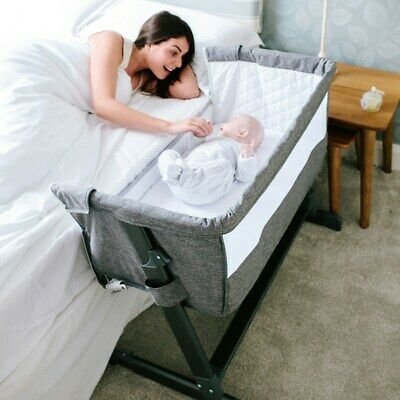 £99.07 • Buy Next To Me Baby Infant Cozi Sleeper Cot Crib Drop Side New Born Cotbed Grey NEW