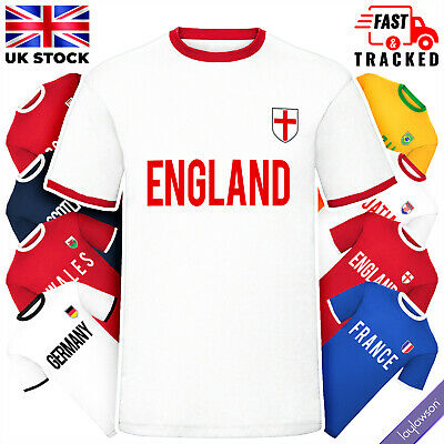 £11.95 • Buy Mens National Football Cup T-Shirt England Jersey Sports Tee Top (26 Countries)