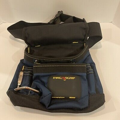 $19.99 • Buy MagnoGrip 8-Pocket Tool Pouch With Belt Blue Tool Belt