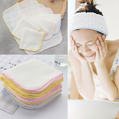 £3.49 • Buy 10x Cotton Face Facial Cleansing Muslin Cloth Towel Cleaning Makeup Dirt Removal