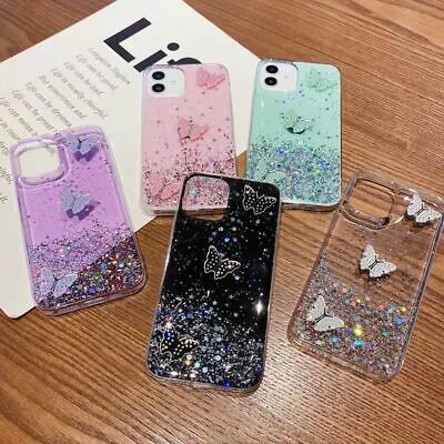 AU8.99 • Buy For IPhone 13 12 11 Pro MAX XR 8 Case Butterfly Glitter Shockproof Bumper Cover