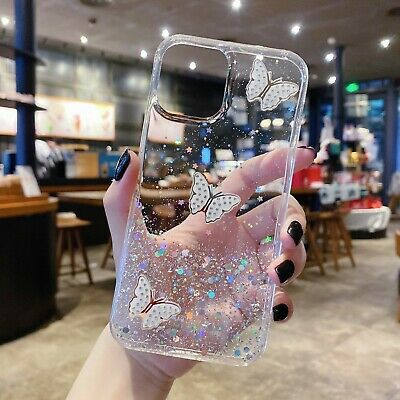 AU9.98 • Buy For IPhone 13 12 11 Pro MAX XR  Case Butterfly Glitter Shockproof Bumper Cover