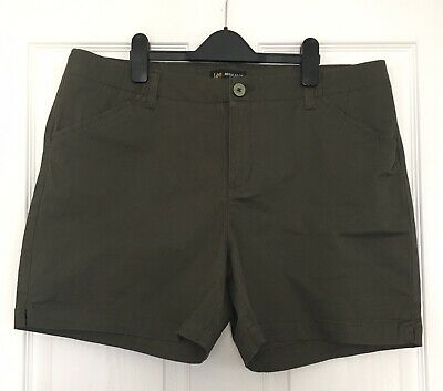 """£10.99 • Buy Ladies Khaki Shorts By Lee Mid Rise Size 16 38""""W 6""""L Travel Safari Style Holiday"""