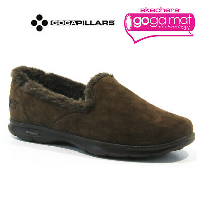 £24.95 • Buy Ladies Skechers Go Step Relaxed Fit Memory Foam Fur Slippers Shoes Trainers Size
