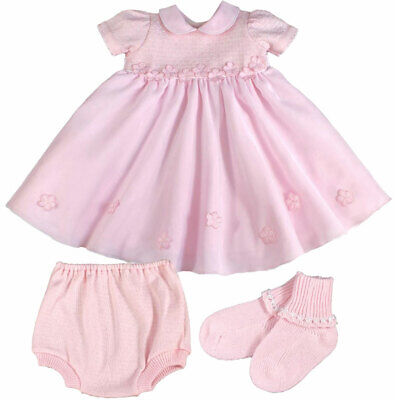 £19.99 • Buy Couche Tot Baby Girl Dress Knickers Socks Voile Flowers Bridesmaid