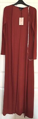 £10.99 • Buy Missguided Bandeau Floor Length Wrap Dress Duster Duo Size 10 BNWT