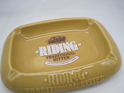 £71.71 • Buy Vtg Large Ashtray England Riding Traditional Bitter Mansfield Brewery Co